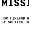 Mission for Finland!